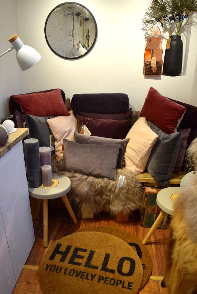 Cushions at The Living Lounge, Canterbury