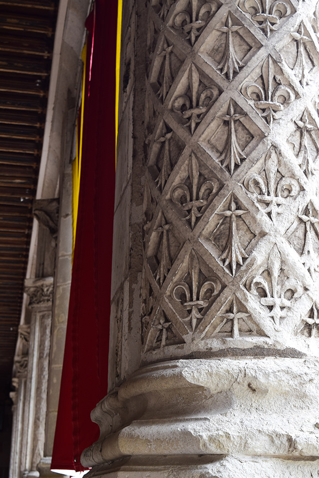 Detailed Columns at Château de Blois #loire #france #chateau #travel