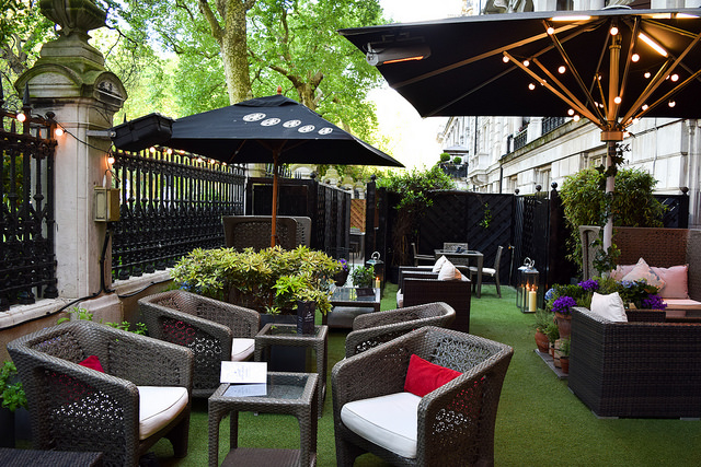 The Royal Horseguards Hotel's Secret Herb Garden #gingarden #pubgarden #hotel #london