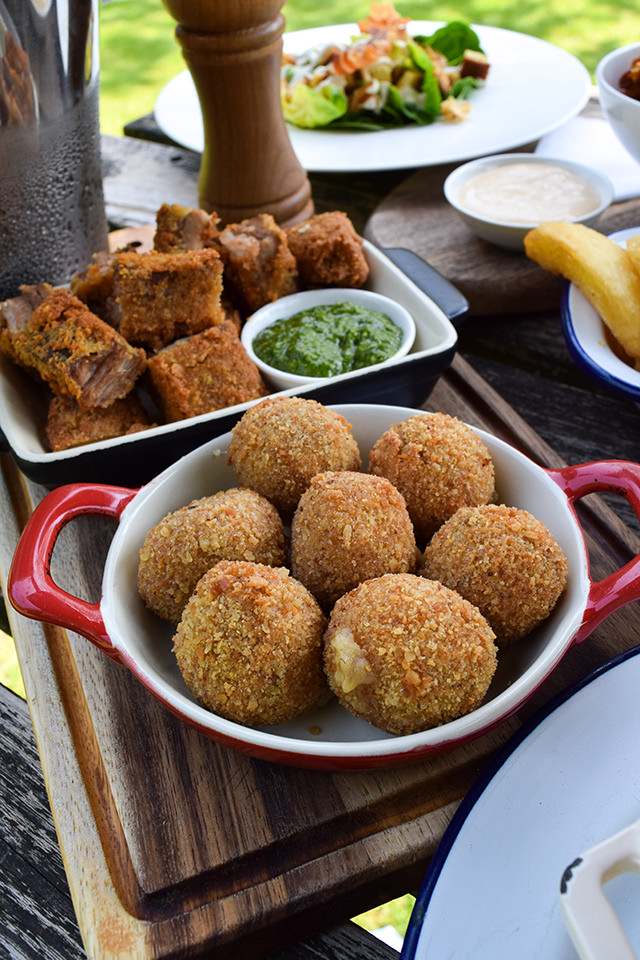Cheesy Ham Croquettes at The Compasses Inn, Crundale