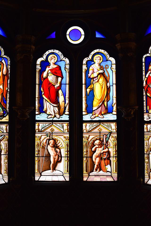 Stained Glass at Château de Blois #loire #france #chateau #travel
