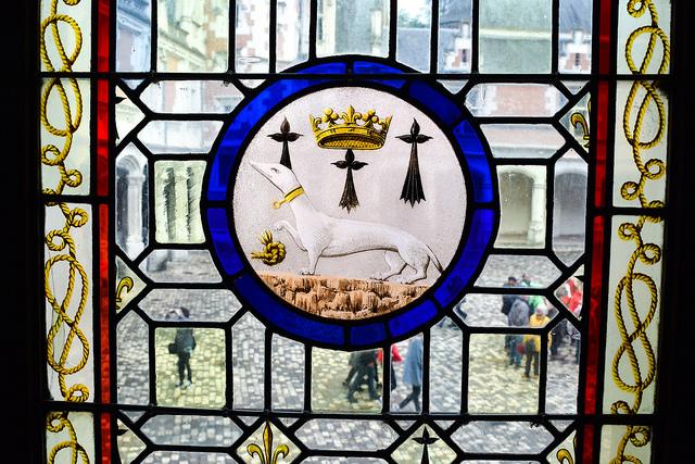 Ermine Stained Glass at Château de Blois #loire #france #chateau #travel
