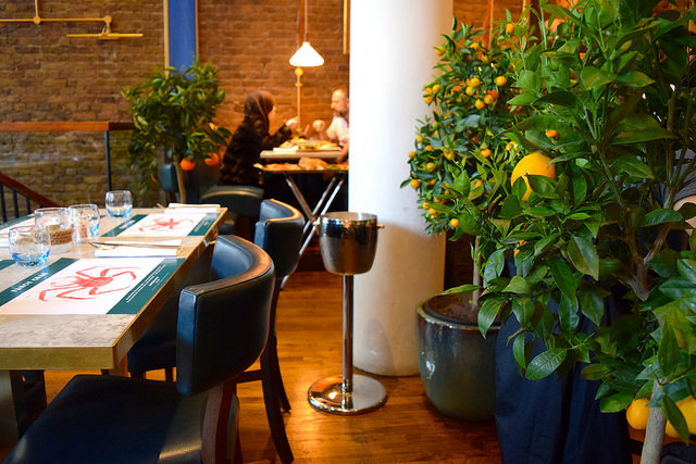 Dining Room at Fancy Crab, Marylebone