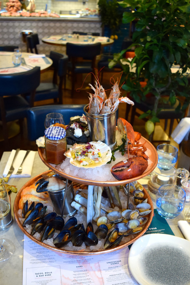 FC Deleux Seafood Tower at Fancy Crab, Marylebone