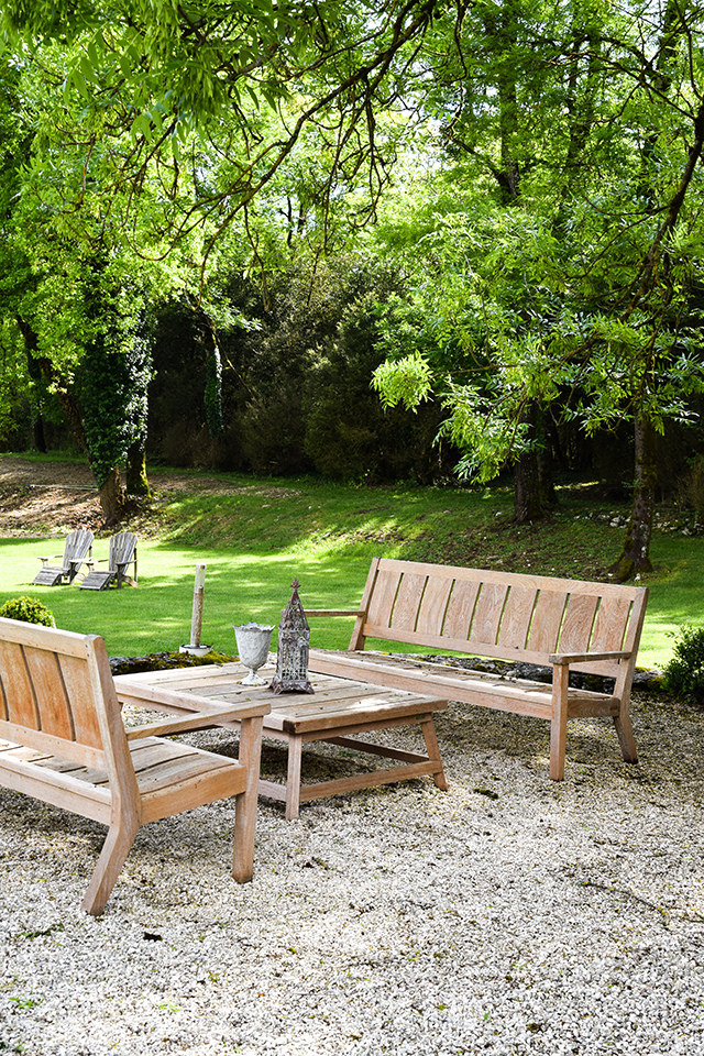 Outdoor Seating at Manoir de Malagorse, France #hotel #travel #france