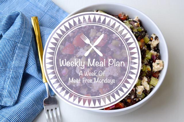 Weekly Meal Plan Week of Meat Free Mondays