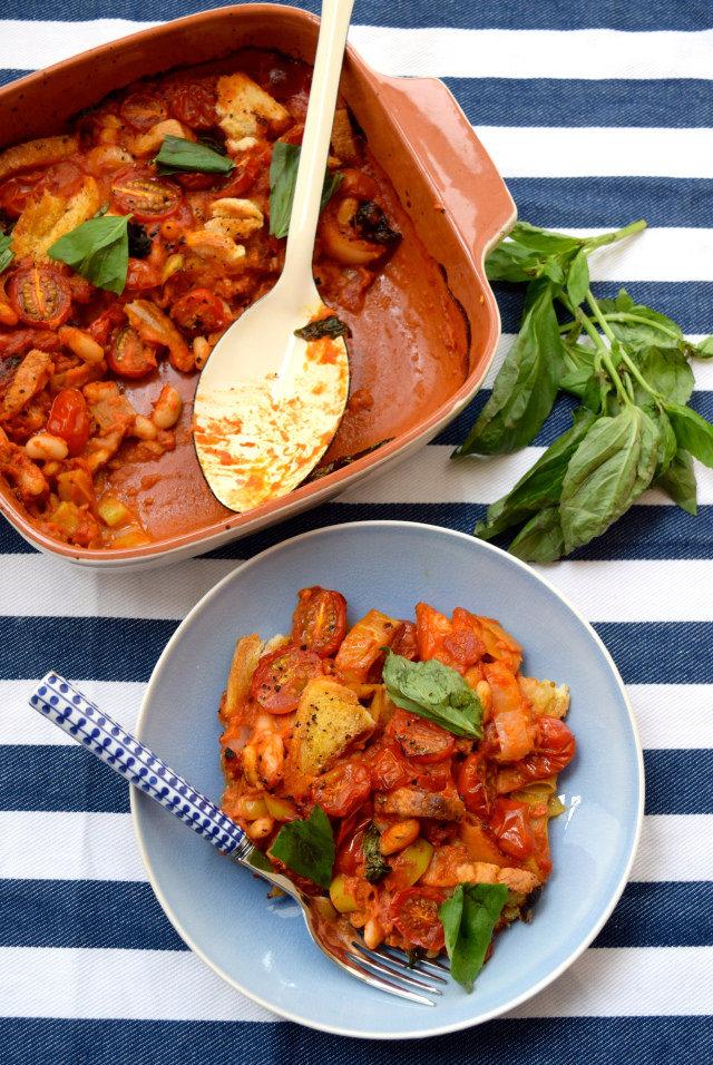 Tomato & Coconut Cassoulet #vegetarian #cassoulet #tomato #coconut #dinner