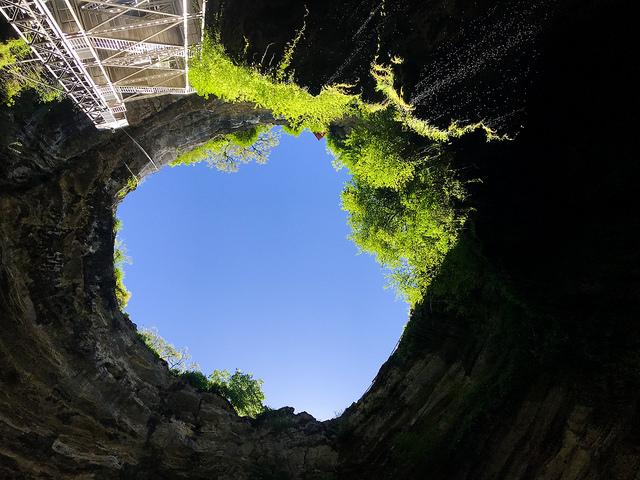 Sink Hole at Gouffre de Padirac, Lot #padirac #caves #france #lot #travel #travelguide