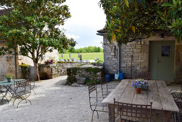 Patio at Manoir de Malagorse, France #hotel #travel #france