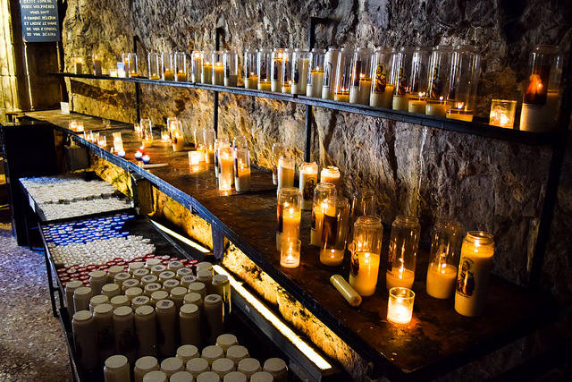 Lighting Candles at Rocamadour, Lot #unesco #rocamadour #france #travel #travelguide