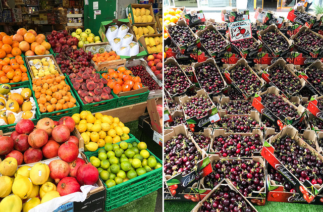 North End Road Market, Fulham #market #fulham #london#produce #cherries