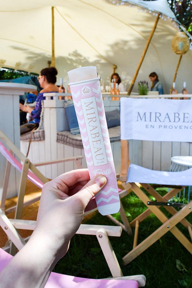 Mirabeau Rose Popsicles at Taste of London #rose #popsicle #tasteoflondon
