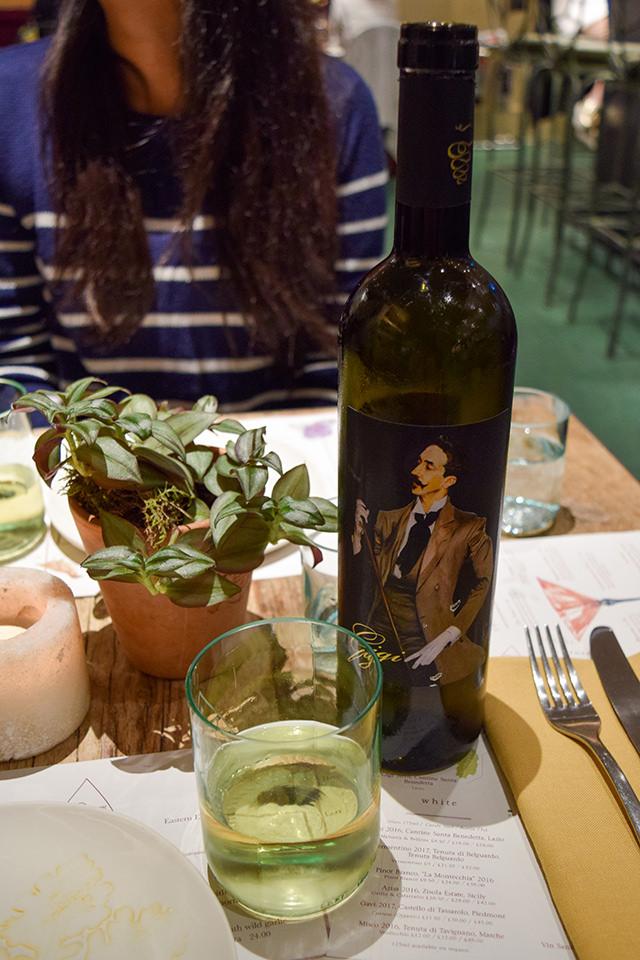 White Wine at La Goccia, Covent Garden #wine #coventgarden #london