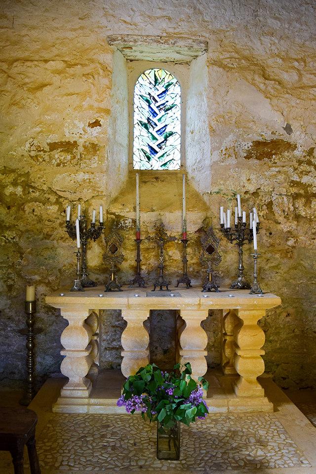 Inside the Chapel at the Jardins de Eyrugnac #gardens #eyrugnac #dordogne #france #travel