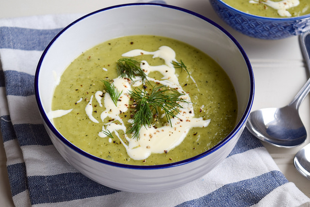 Easy Summertime Courgette Soup #soup #courgette #zucchini