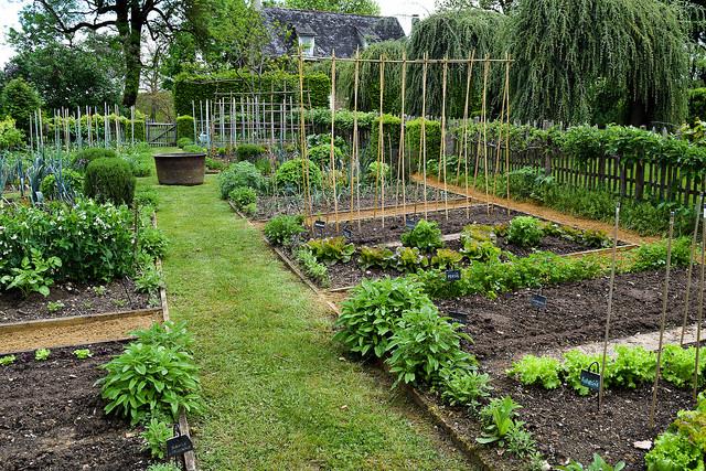 Vegetable Garden at the Jardins de Eyrugnac #gardens #eyrugnac #dordogne #france #travel