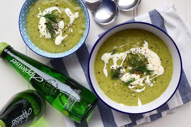 Summertime Courgette Soup #soup #courgette #zucchini