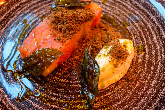 Pressed Tomato Terrine at Goats Cheese at The Parade Room at The Pound, Canterbury #tomato #goatscheese #canterbury