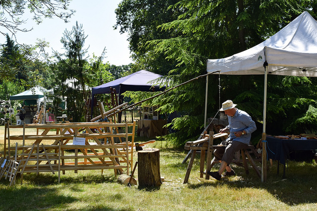 Traditional Fence Making at Wealden Literary Festival 2018