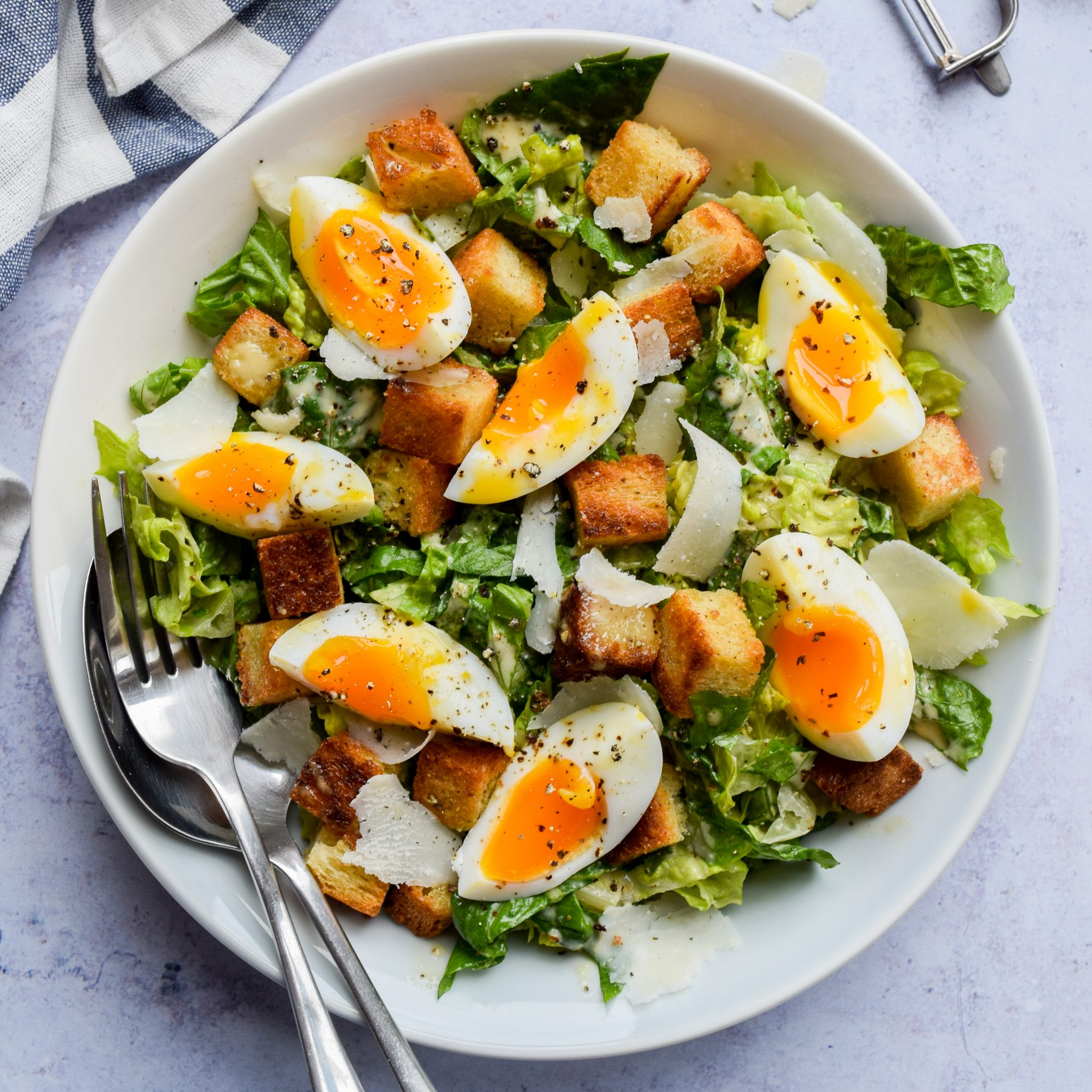 Recipe: Cheats Caesar Salad with Leftover Bread Croutons | Rachel Phipps